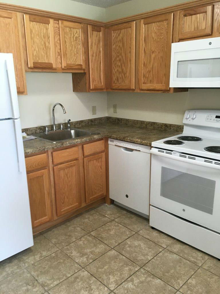 Fully appointed kitchens with full size appliances